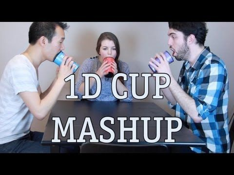 One Direction Cup Song Mashup - What Makes You Beautiful / One Thing / Kiss You. I'm crying guys, this is so amazing I can't even........oh my gosh please just watch please