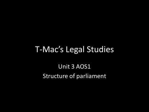 VCE Legal Studies - Unit 3 AOS1 - Structure of parliament