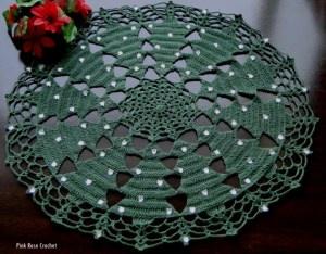 Toalhinha Centrinho Pinheirinho - Crochet de Natal