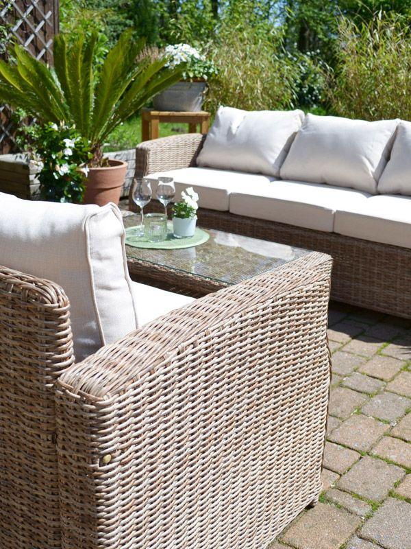 Lounge Gruppe Gotland Natur 3 Sitzer Sofa Plus 2 Sessel Und 1 Tisch Lounge Lounge Gartenmobel Outdoor Dekorationen