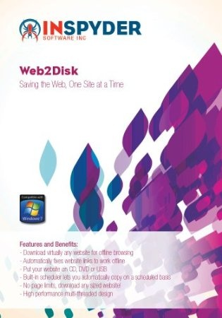 Web2Disk makes downloading an entire website to your PC a breeze. Just enter the URL and click Go! Web2Disk will crawl the website and automatically download the required files so that you can browse the site directly from your hard drive, CD or USB.  Web2Disk's powerful engine allows it to modify websites as they're downloaded so that all the links work on the offline copy of the website. You'll be able to browse the site as if it were still online. Price: $39.95