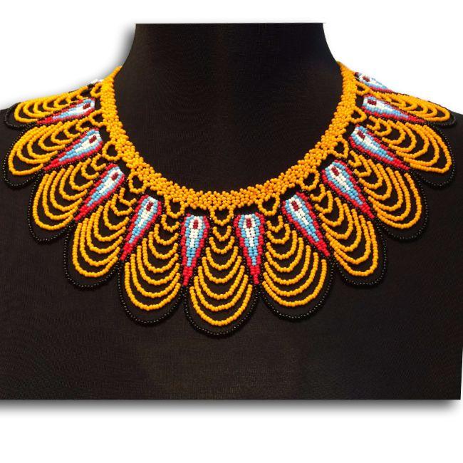 Embera Choker Necklace - Yellow & Black