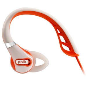 Polk Audio UltraFit 500 In-Ear Sports Headphones - White/Orange #PolkAudio #Headphones