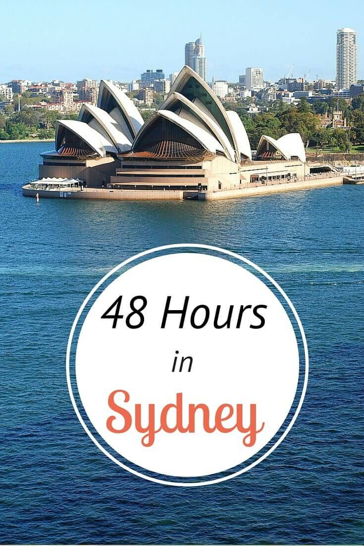 What to do in Sydney in 48 hours. Is Australia on your bucket list, you can't miss Sydney! Here's a 2 day itinerary that takes in the highlights, plus tips on where to eat and where to stay!