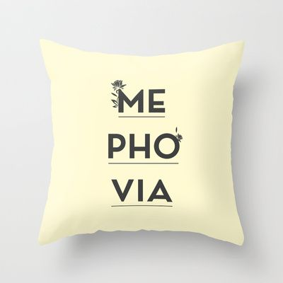 Mephovia Throw Pillow by Spyros Athanassopoulos - $20.00  #mephovia #pillow #typography #fabric