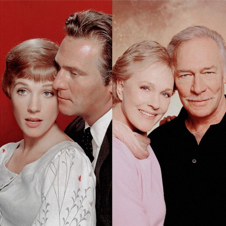 Christopher Plummer and Julie Andrews in 1965 and in 2001