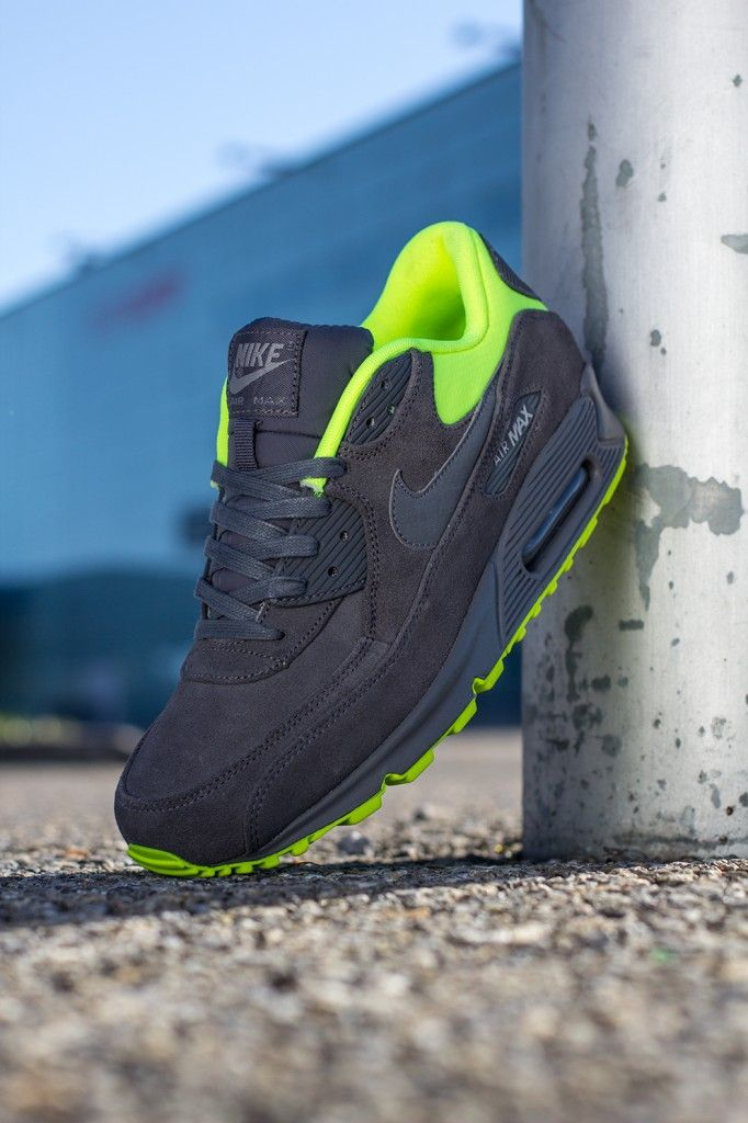 The Nike Air Max 90 Premium - Grey / Volt will release at dealers in  November.
