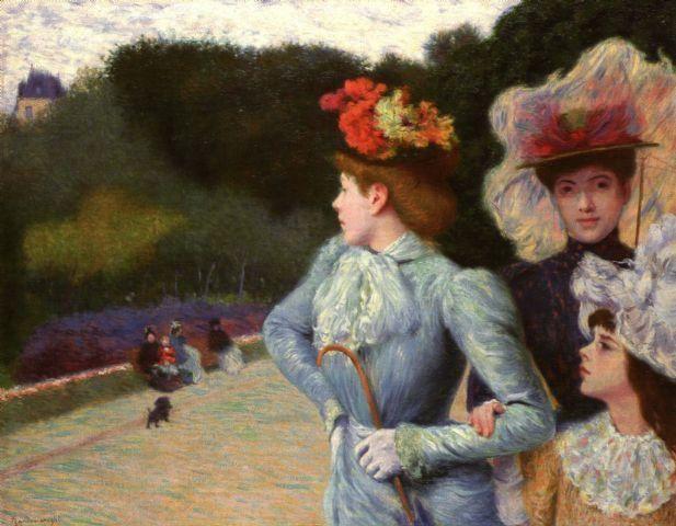 Promenade by Federico Zandomeneghi (1941-1917), Italian Impressionist painter (wikipedia)