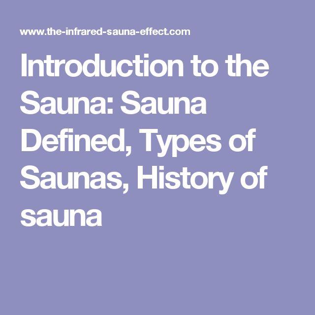 Introduction to the Sauna: Sauna Defined, Types of Saunas, History of sauna