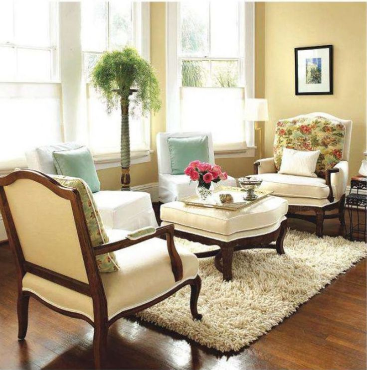 Admirable Small Tan Living Room With Solid Wood Flooring.