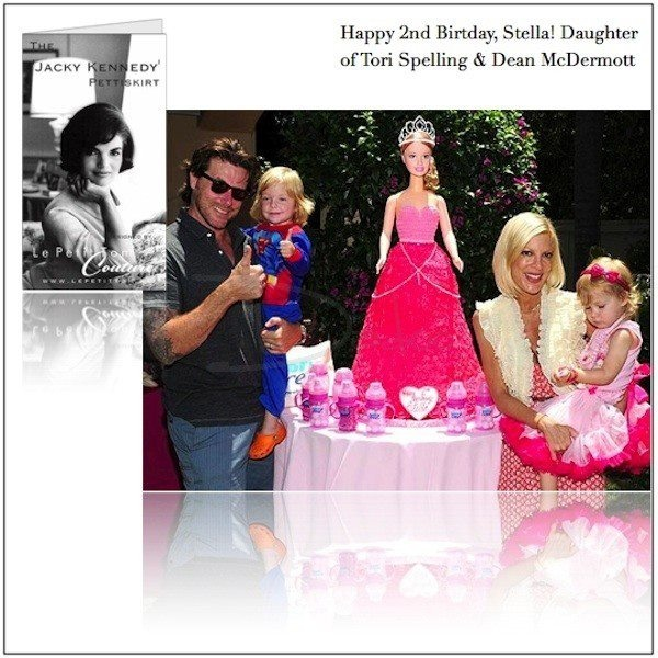 daughter of Tori Spelling wearing DOLLY skirt Jacky Kennedy