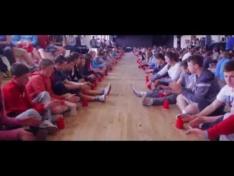 ▶ Cup song in Irish - YouTube   --  This is really cool!!  Impressive that they got everyone in sync, and the song in Irish is gorgeous!!