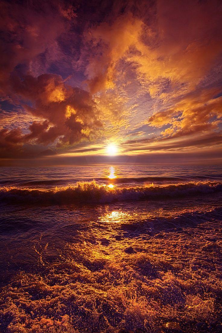 Toward The Far Reaches - Lake Michigan Wisconsin Horizons By Phil Koch. http://phil-koch.artistwebsites.com