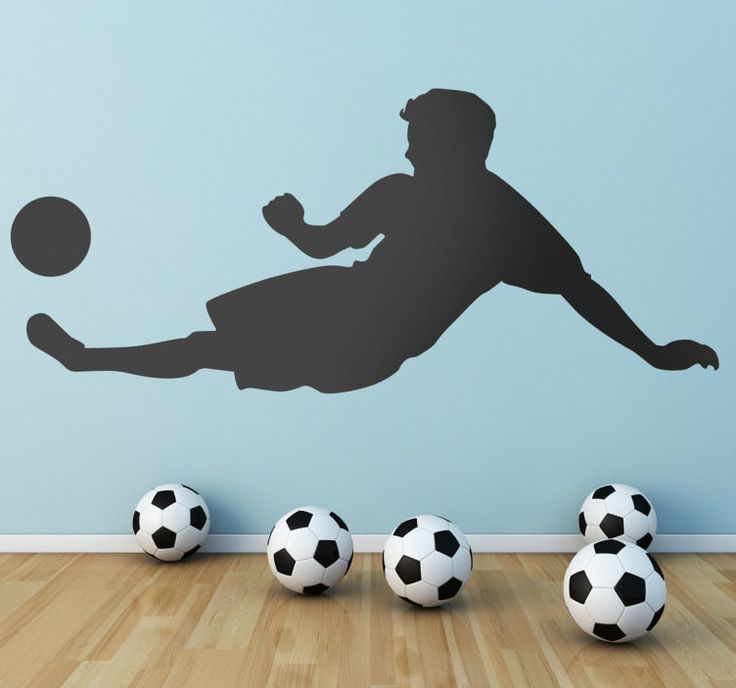 Does your son like soccer? Then surprise him with this cool wall decal. We can personalize your sticker by adding the name of your child!