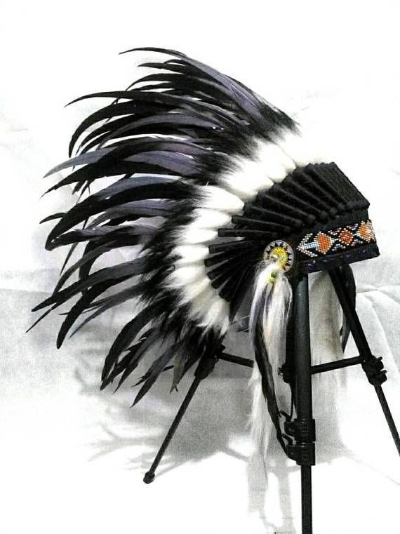 Black Purple Baby Indian style Headdress Toddler Native