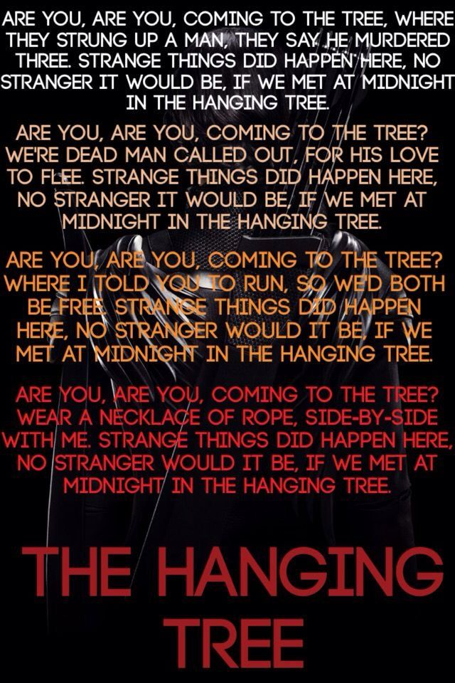 The hanging tree is the most beautiful song I EVER heard  I LOVE IT SO MUCH
