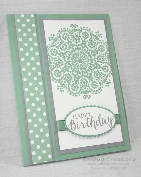 Handmade card made with Moroccan Nights stamp set from Stampin' Up! http://www.beebugcreations.com
