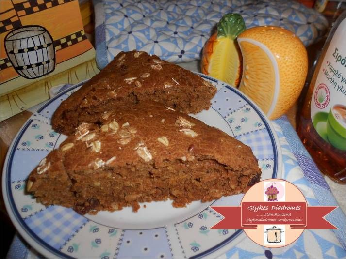 Sugarless whole meal cake with muesli