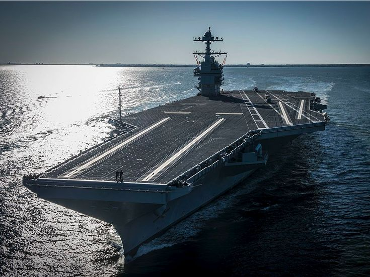 Image result for Op-Ed: Will the Navy's newest aircraft carrier be able to deliver on its promises?