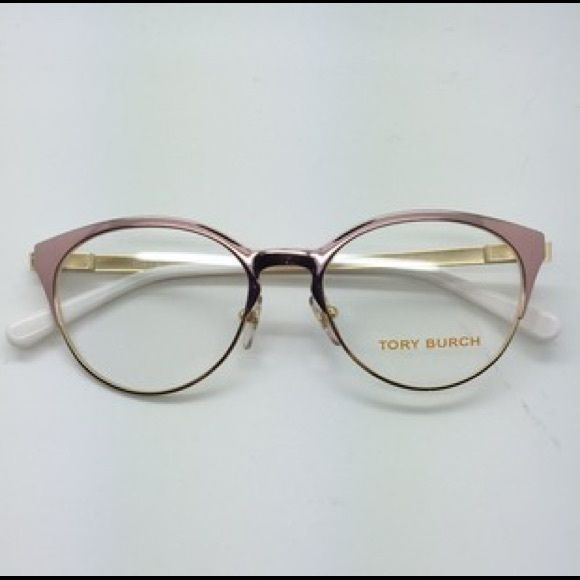 "NIB Tory Burch TY1041 Eyeglass Frames 3051-52 in Rose Gold & Shimmer Gold and White. Set with original non-prescription lenses. One of the drawstrings on the bag came to me missing some length...does not affect the glasses and is considered in pricing. Retail $110. I've listed on Ⓜ️ for cheaper @Brisette use code ""TXCYAR"" if you are new for $2 free!"