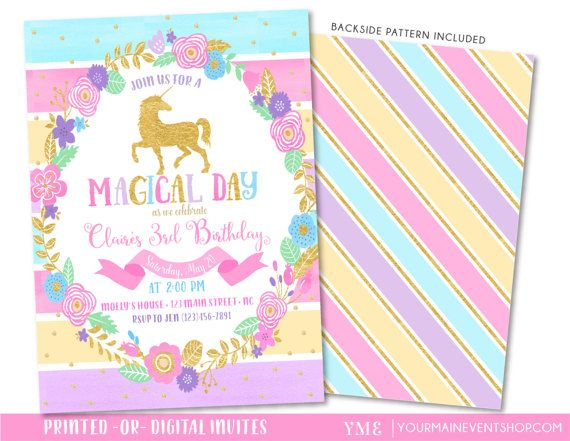 Rainbow Party Invite is awesome invitation design