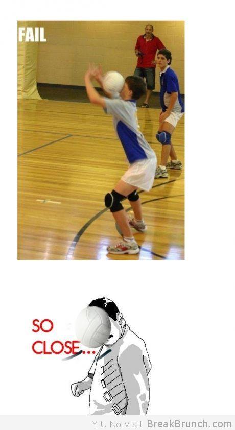 So close, volleyball fail