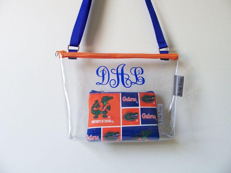 Florida Gators Clear Bag Set Stadium Security PGA Tour Zipper Purse/Shoulder/Crossbody Bag/Purse/Game Day/Gift Idea by BHipBags on Etsy