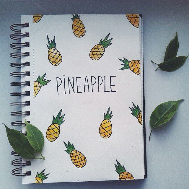 Cute pineapple notebook!!!