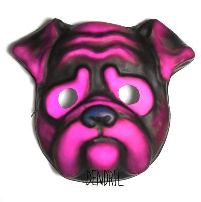 Neon Pink Pug Mask from Dendril's Bazaar