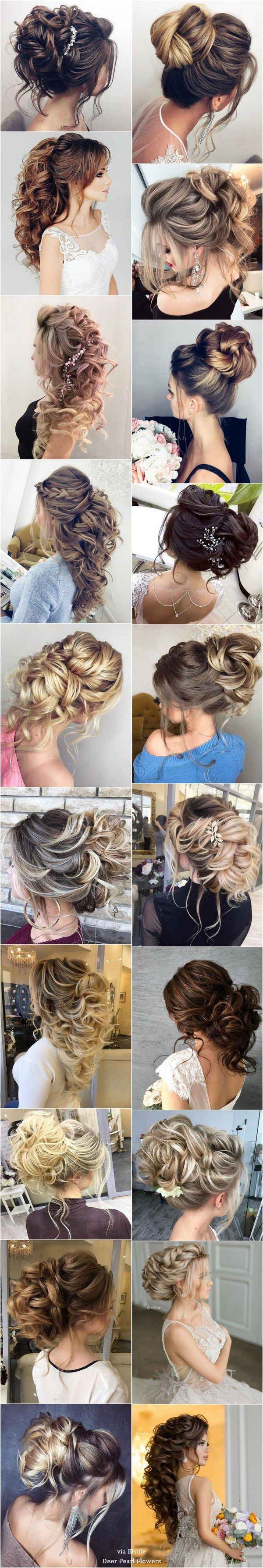 Elstile Long Wedding Hairstyle Inspiration / www.deerpearlflow……