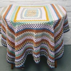 Vintage crochet blanket vintageactually.co.uk