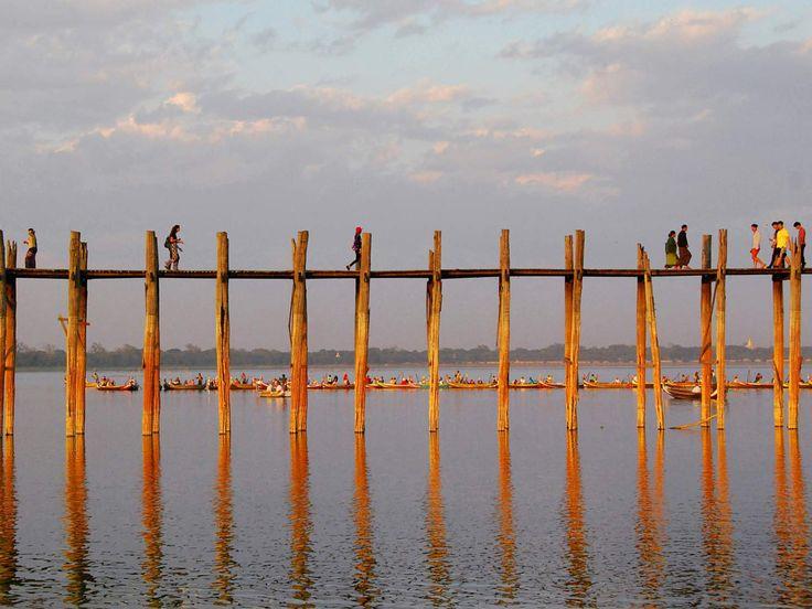 Amarapura - Birmanie - pont de teck