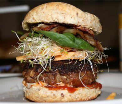 Whoa! What a Burger!  Italian Sausage Burger  #udderlysmooth #recipes