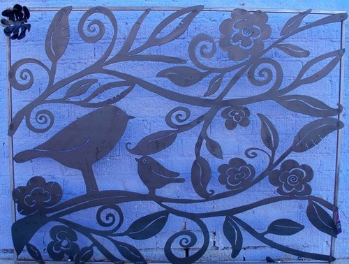 Lovely Birds Fireplace Screen eclectic fireplace accessories