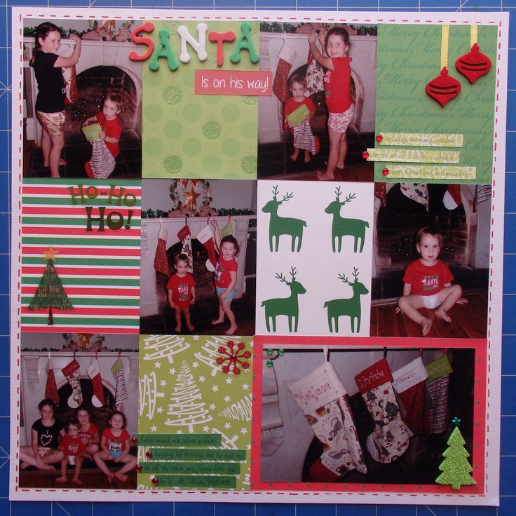 Scrapbook page by Laura: Santa is on his way!