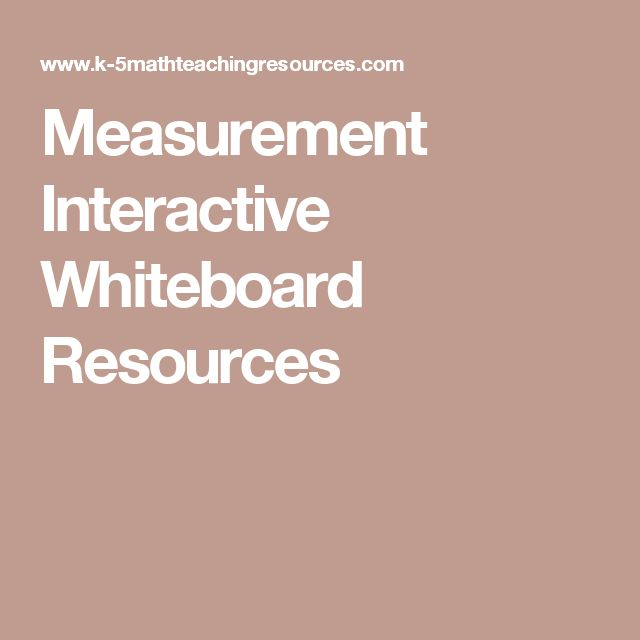 Measurement Interactive Whiteboard Resources