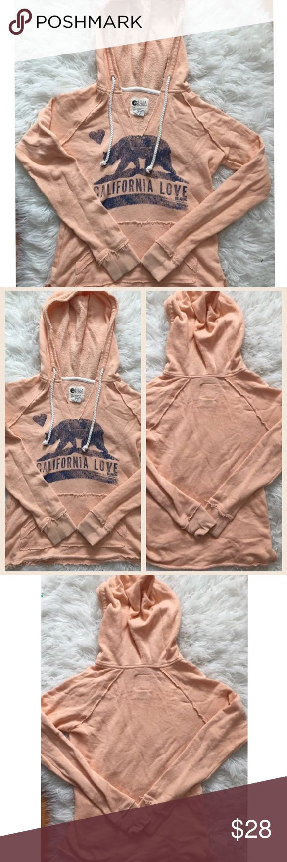 Billabong Peach Colored California Sweatshirt California sweater by Billabong. Peachy color. Has a very vintage look to it. There is no pilling but the fabric is intentionally distressed to look vintage like.   #5031733 Billabong Tops Sweatshirts & Hoodies