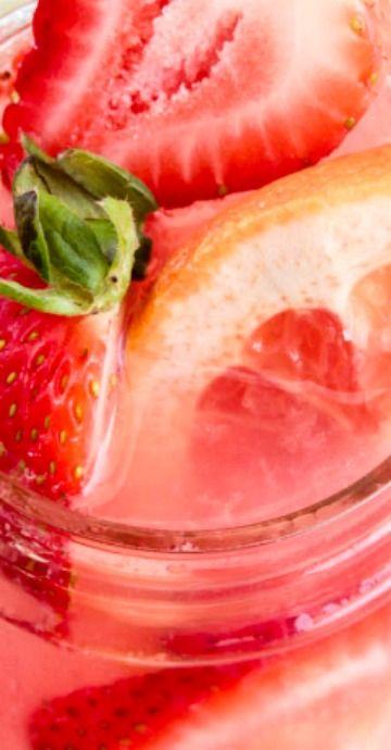 Strawberry Grapefruit Spiked Lemonade