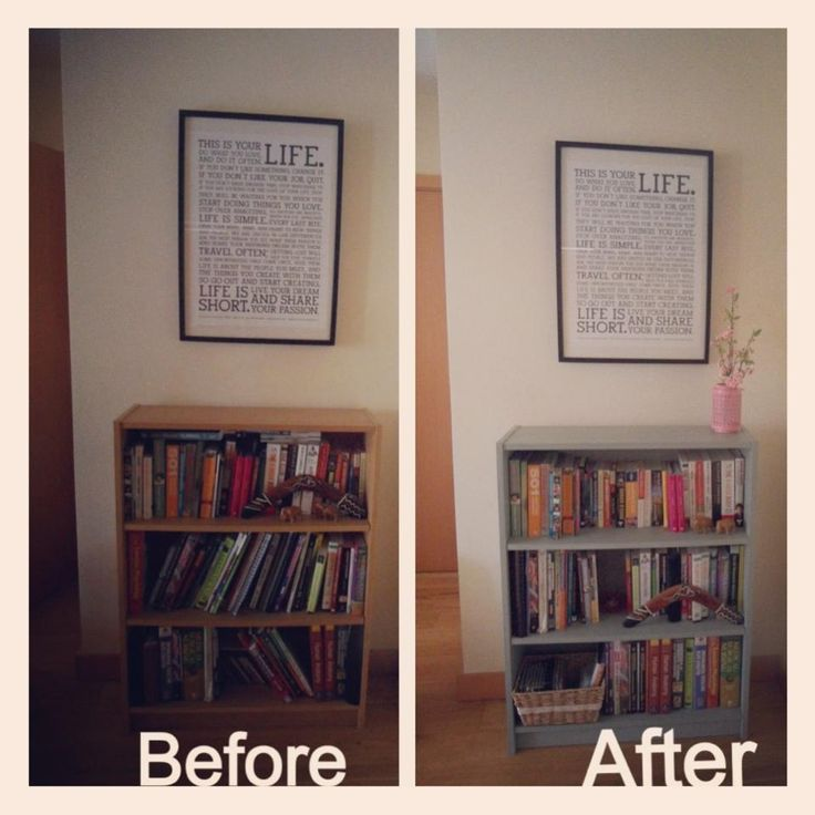 Bookcase makeover! Photo sent into us by one of our talented customers :) #ChalkPaint #DuckEggBlue