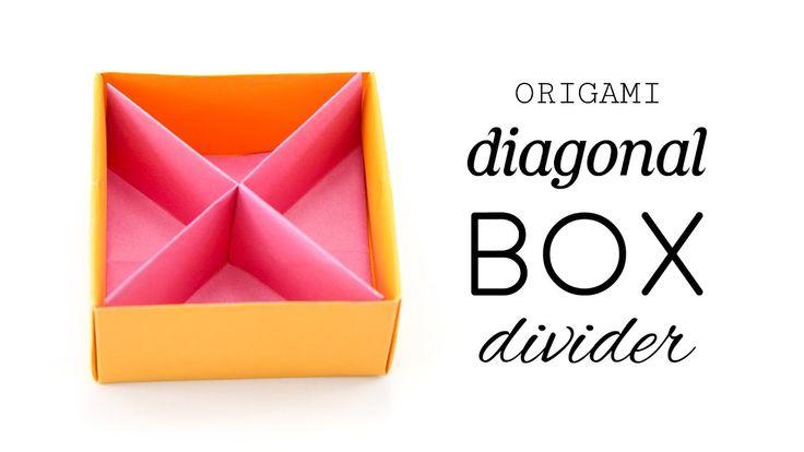 Origami Diagonal Box Divider Tutorial Paper Kawaii #origami #paperkawaii