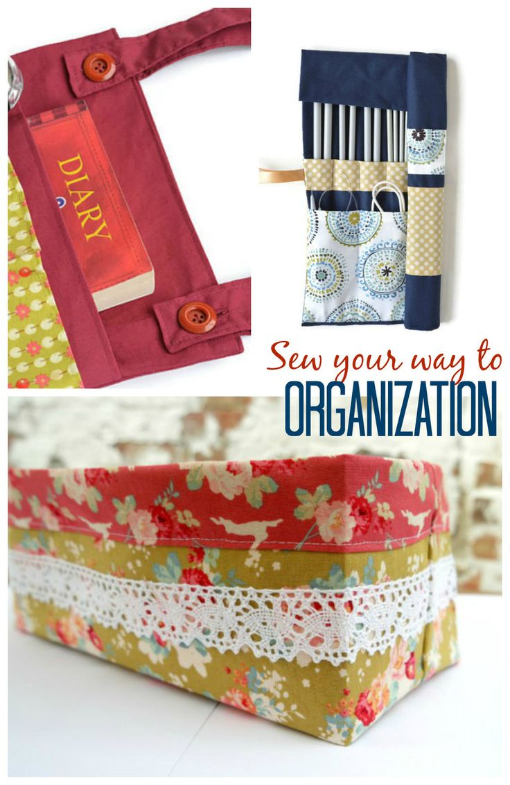 Feeling the need to tidy and sort? Sew yourself some stylish homemade organisational aids with these great free tutorials