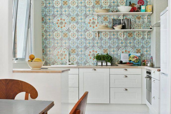 I love Moroccan patterns!!! Kök/matplats - Gamla Masthugget From Hemnet Inspiration