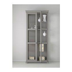 LIATORP Vitrinskåp - grå - IKEA