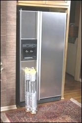 Stainless Steel Side x Side Refrigerator Cover. Softmetal Stainless Steel Film Kitchen Appliances. appliance art .com