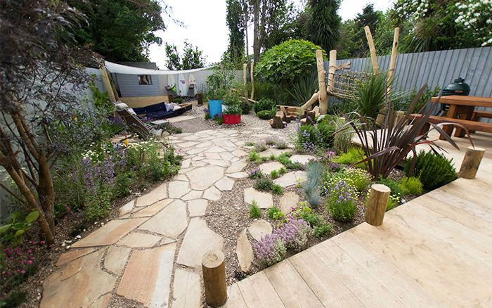 Finished garden after Love Your Garden makeover with Alan Titchmarsh series 4 episode 5