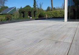 Project van keramische-buitentegels.nl. Keramisch parket outdoor. Prachtig keramisch parket outdoor. Voor op uw terras of mooi onder de overkapping aan uw huis.