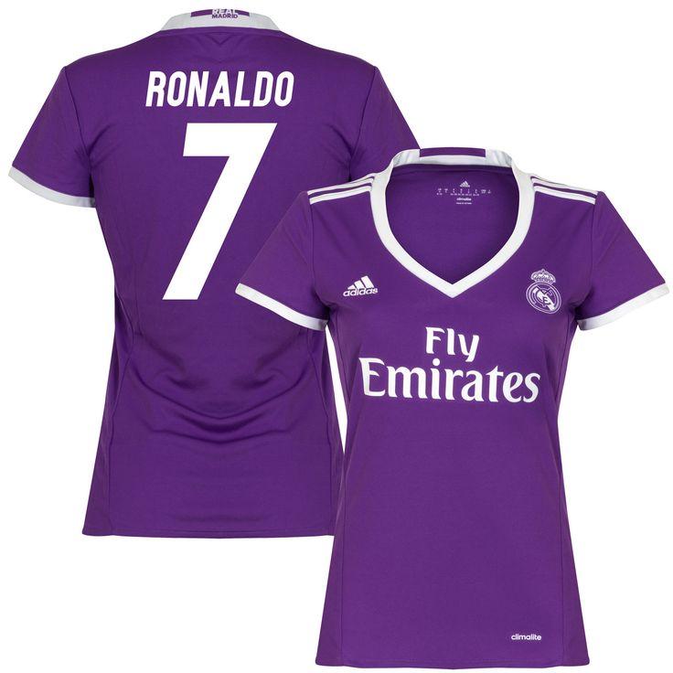 eb10ca9c201 ... Soccer Uniform Real Madrid Dames Shirt Uit 2016-2017 Ronaldo 7 ...