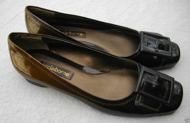 LIZ CLAIBORNE Shoes Brown Buckle Flats Casual Slip On Womens 6