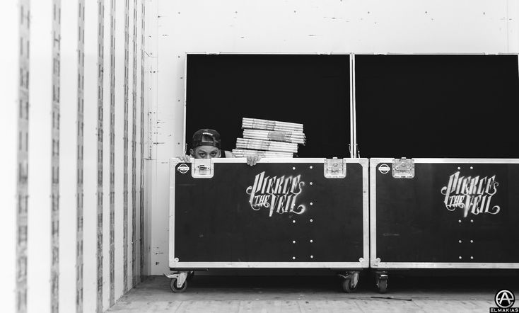 Mike Fuentes of Pierce the Veil at Warped Tour 2015 by Adam Elmakias