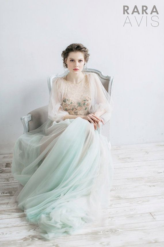 18 Of The Dreamiest Wedding Dresses You Will Ever See Mint Green